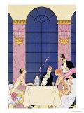 The Gourmands, 1920-30 Reproduction procédé giclée par Georges Barbier