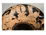 Attic Red-Figure Cup Depicting Scenes from the Trojan War, circa 490 BC Giclée-tryk af  Brygos Painter