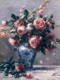 Vase of Roses Giclée-tryk af Pierre-Auguste Renoir