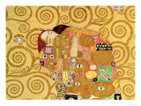 Fulfillment, Stoclet Frieze, c.1909 (detail) Exklusivt gicléetryck av Gustav Klimt