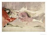 Mother and Child on a Couch Reproduction procédé giclée par James Abbott McNeill Whistler
