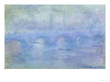 Waterloo Bridge: Effect of the Mist, 1903 Giclée-tryk af Claude Monet