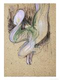 Study for Loie Fuller at the Folies Bergeres, 1893 Lámina giclée por Henri de Toulouse-Lautrec