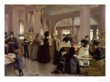 La Patisserie Gloppe, Champs Elysees, Paris, 1889 Reproduction procédé giclée par Jean Béraud