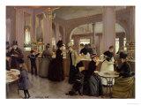 La Patisserie Gloppe, Champs Elysees, Paris, 1889 Giclee Print by Jean Béraud