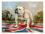 British Bulldog Giclée-vedos