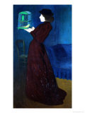 Woman with a Bird Cage Giclée-tryk af Jozsef Rippl-Ronai