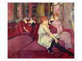 In the Salon at the Rue des Moulins, 1894 Giclee Print by Henri de Toulouse-Lautrec