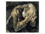 Man with His Head in His Hands Giclee-trykk av Vincent van Gogh