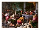 The Rich Man and Lazarus, 1590-95 Giclée-vedos tekijänä Leandro Da Ponte Bassano