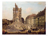 The Ruins of the Old Kreuzkirche, Dresden Reproduction procédé giclée par Bernardo Bellotto