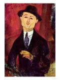 Paul Guillaume Novo Pilota, 1915 Giclée-tryk af Amedeo Modigliani