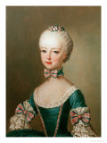 Marie Antoinette Daughter of Emperor Francis I and Maria Theresa of Austria Giclée-tryk af Jean-Etienne Liotard