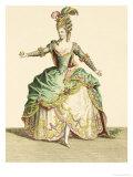 Costume for Venus in Several Operas, Engraved by the Artist, circa 1780 Impressão giclée por Jean Baptiste Martin