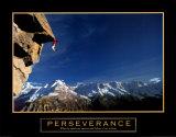 Persévérance, l'escalade Affiches