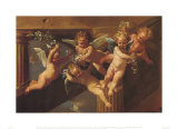 Adoration of the Sheperds Prints by Nicolas Poussin