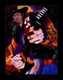 Impro de bluesman Affiche par Dane Tilghman