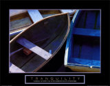 Tranquility: Three Boats Stampe
