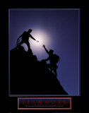 Teamwork: Climbers Posters