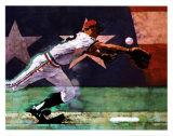 Olympisches Baseball Poster von Michael Dudash