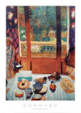 The Breakfast Room Láminas por Pierre Bonnard