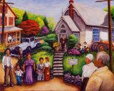 Country Church Service Affiches par  Mancusi