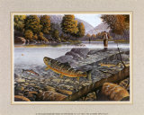 Jumping Trout Posters