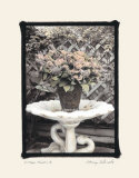 Vintage Flowers II, Still Life with Birdbath Affiches par Sharyn Sakimoto