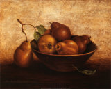 Pears in Bowl Affiche par Peggy Thatch Sibley