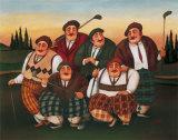 Golf Club Kunstdruck von T. C. Chiu