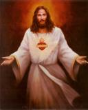 Jesus' Sacred Heart Kunst von T. C. Chiu