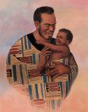 Family Values Man Print by T. C. Chiu