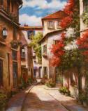 Mediterranean Villa II Kunstdrucke von T. C. Chiu