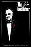 Filmposter uit The Godfather met Engels citaat Posters
