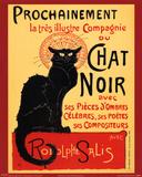 Vintage poster van Zwarte kat: Chat Noir, ca.1896 Print