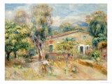 Collettes Farmhouse, Cagnes, La Ferme De Collettes, Cagnes, 1910 Giclee Print by Pierre-Auguste Renoir