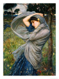 Boreas Giclée-tryk af John William Waterhouse