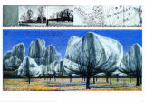 Wrapped Trees VI Art by  Christo