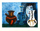 Trois vases Lámina coleccionable por Agustin Ubeda