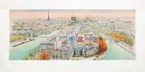 Paris, panorama vers l'Ouest II Reproduction pour collectionneur par Rolf Rafflewski