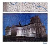 Reichstag XV - Signed Reproductions de collection premium par  Christo