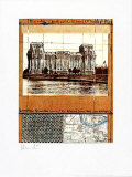 Reichstag XII - Signed Collectable Print by  Christo