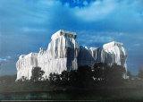 Reichstag - Ost- U. Nordfassaden - Signed Reproduction pour collectionneur par  Christo