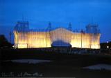 Reichstag - Vorderseite Nachts - Signed Samlertryk af  Christo
