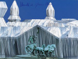 Reichstag - Quadriga - Signed Collectable Print by  Christo