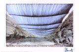 Arkansas River from Underneath - Signed Impressão colecionável por  Christo
