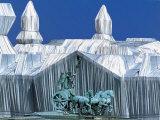 Reichstag mit Quadriga Reproduction photographique par  Christo