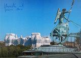 Reichstag - Blick Vom Dach Brandenburger Tor - Signed Reproduction pour collectionneur par  Christo