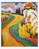 Spring in Taunus Posters av Karl Schmidt-Rottluff