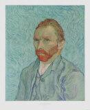 Self-Portrait, c.1889 Keräilyvedos tekijänä Vincent van Gogh